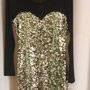 Dresses & Skirts - Size 10 Gold Sequin Dress